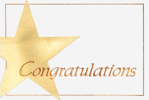 Congratulations Star Note Card