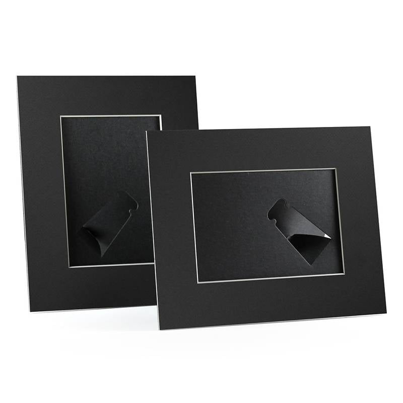 4x6, 5x7 or 8x10 Black Angle Cut Easel Series frames