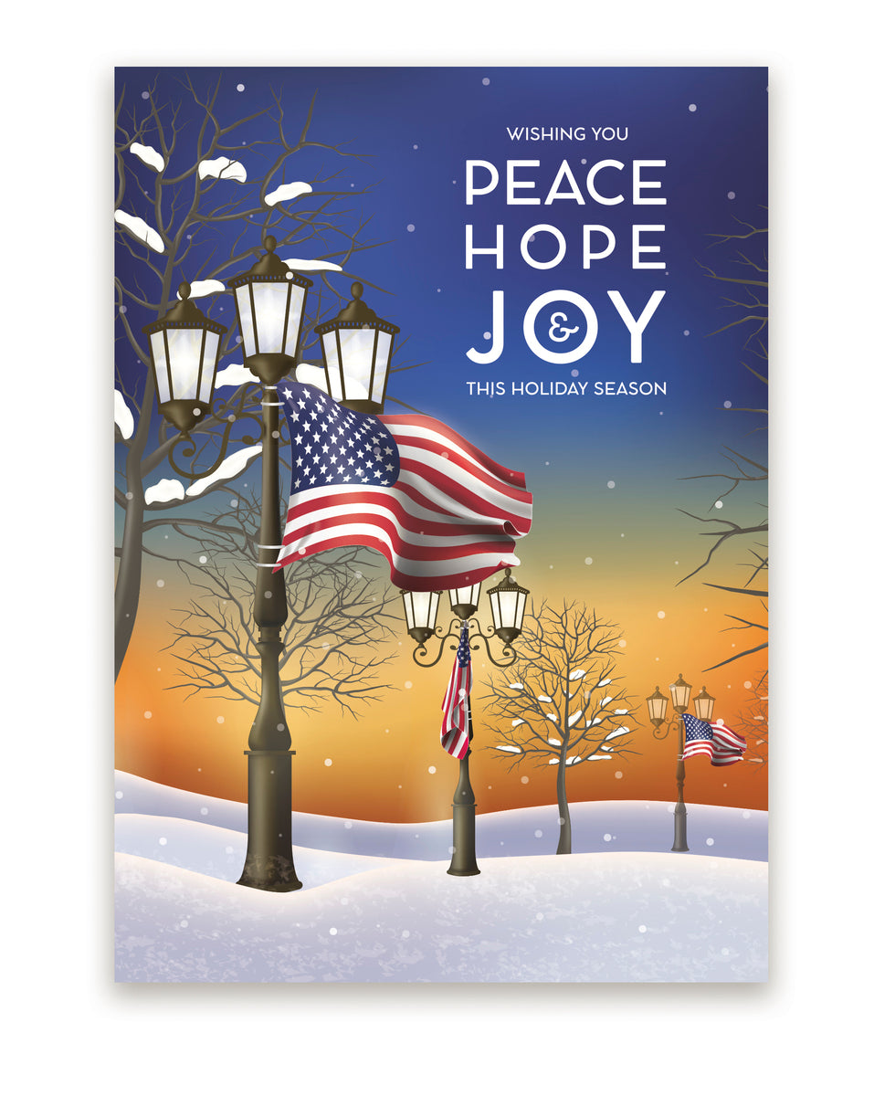 American Peace Holiday Greeting Card