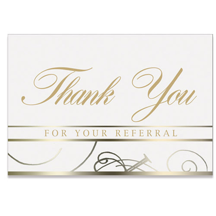 White Referral Thank You Card