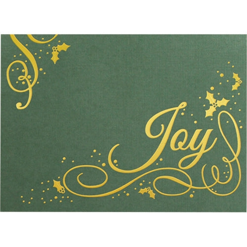 Holly Berry Joy Holiday Greeting Card