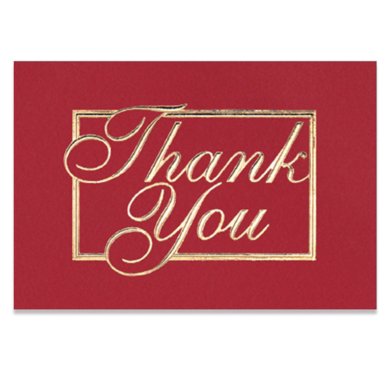 Red and Gold Thank You Card