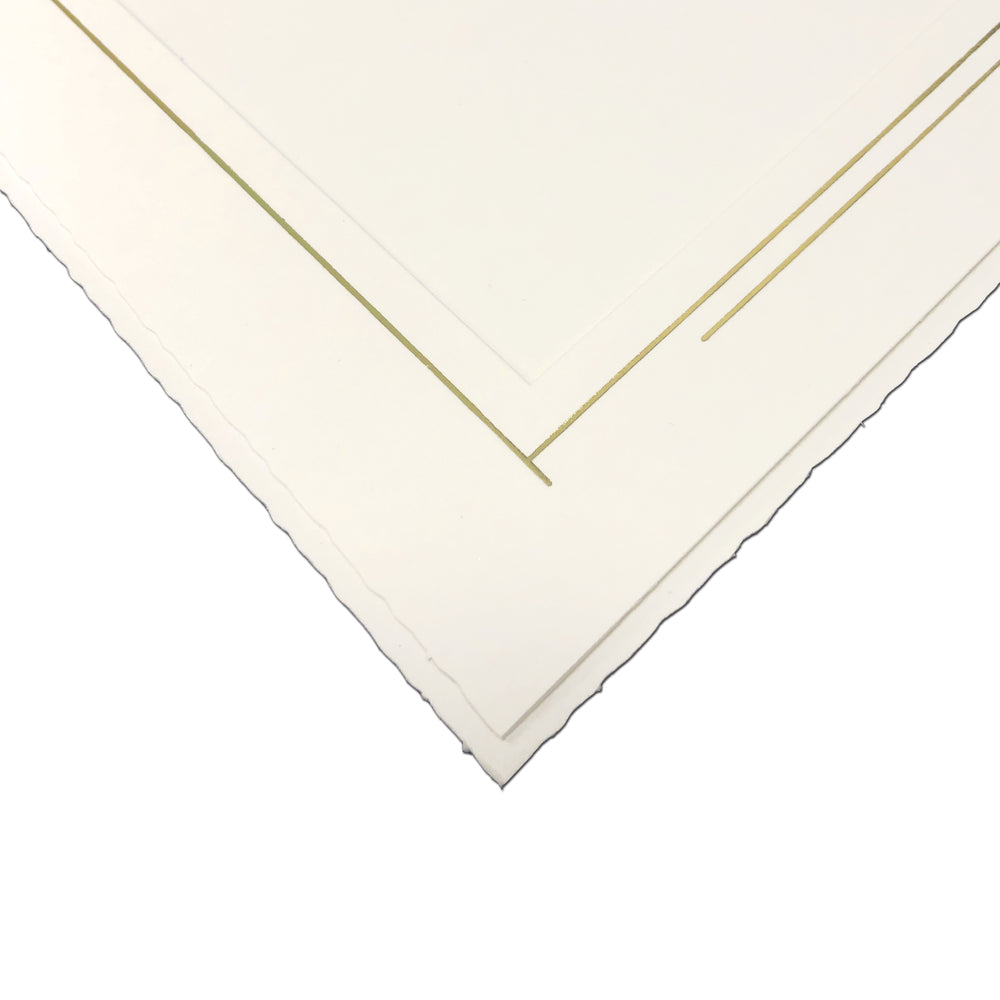 Abstract Trim Folders frames with gold trim
