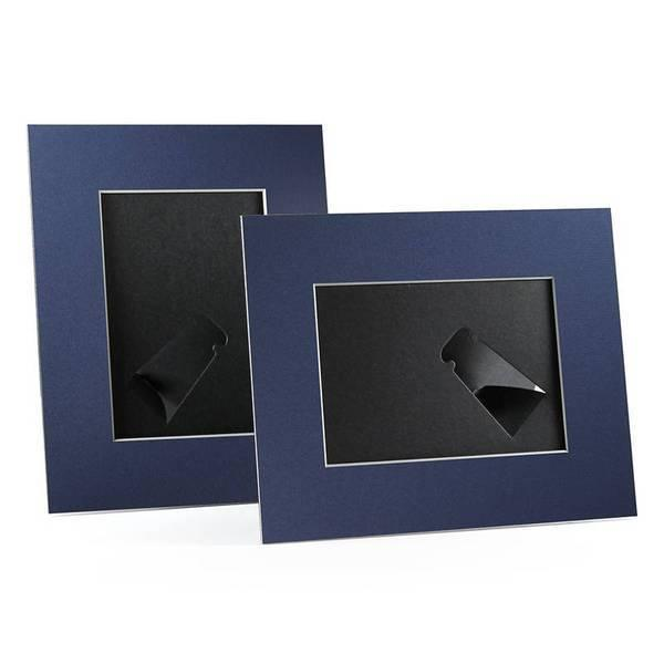 4x6, 5x7 or 8x10 Navy Angle Cut Easel Series frames