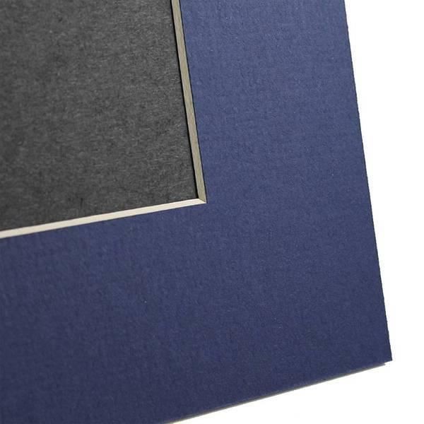 Navy Angle Cut Easel Series frames with white core