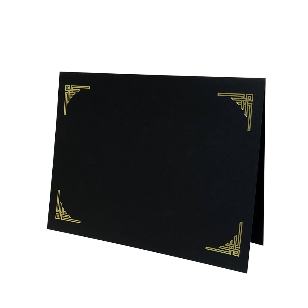 NEW!!! Art Deco Certificate Holder - Black