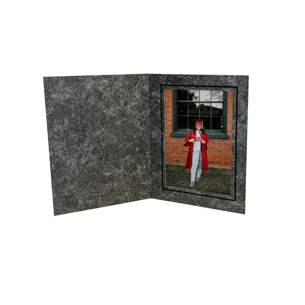Pillar Folders frames with black trim in vertical orientation