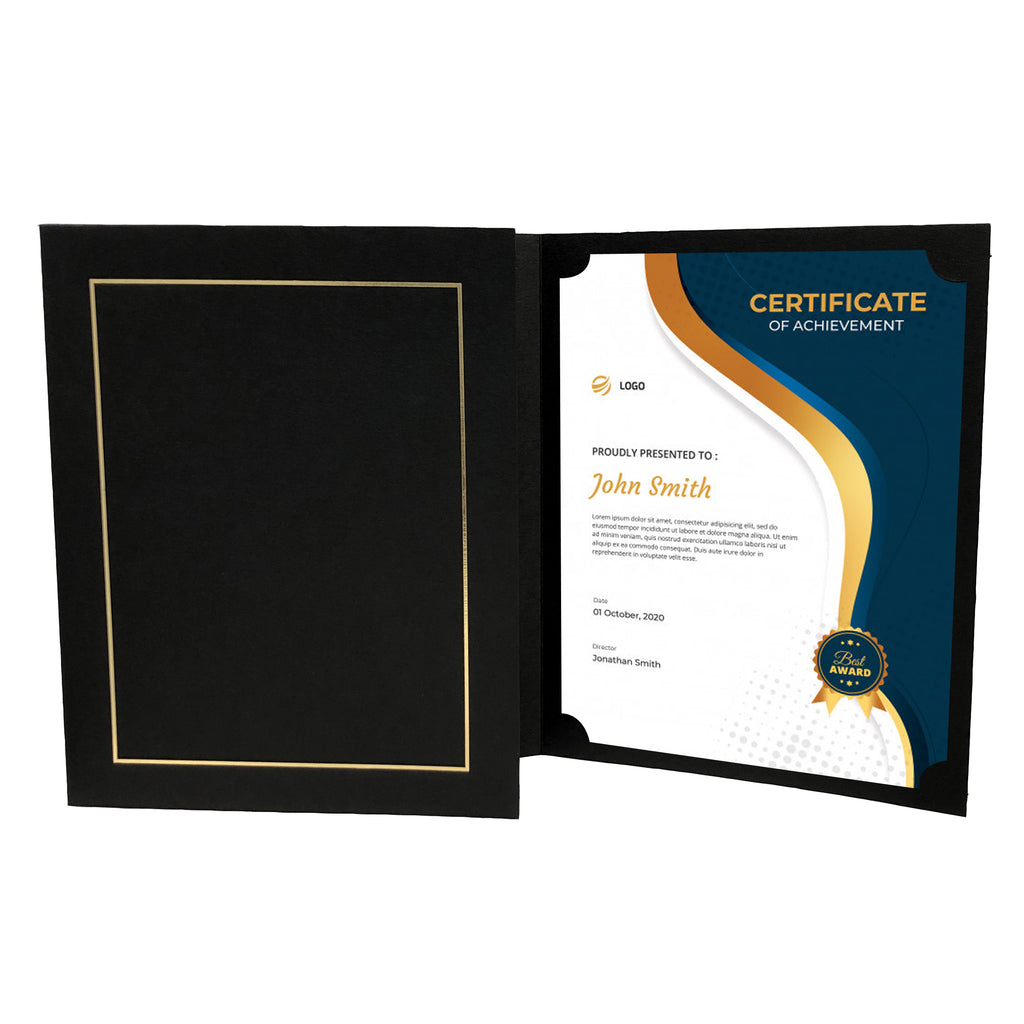 Award Certificate Holder Black/Gold