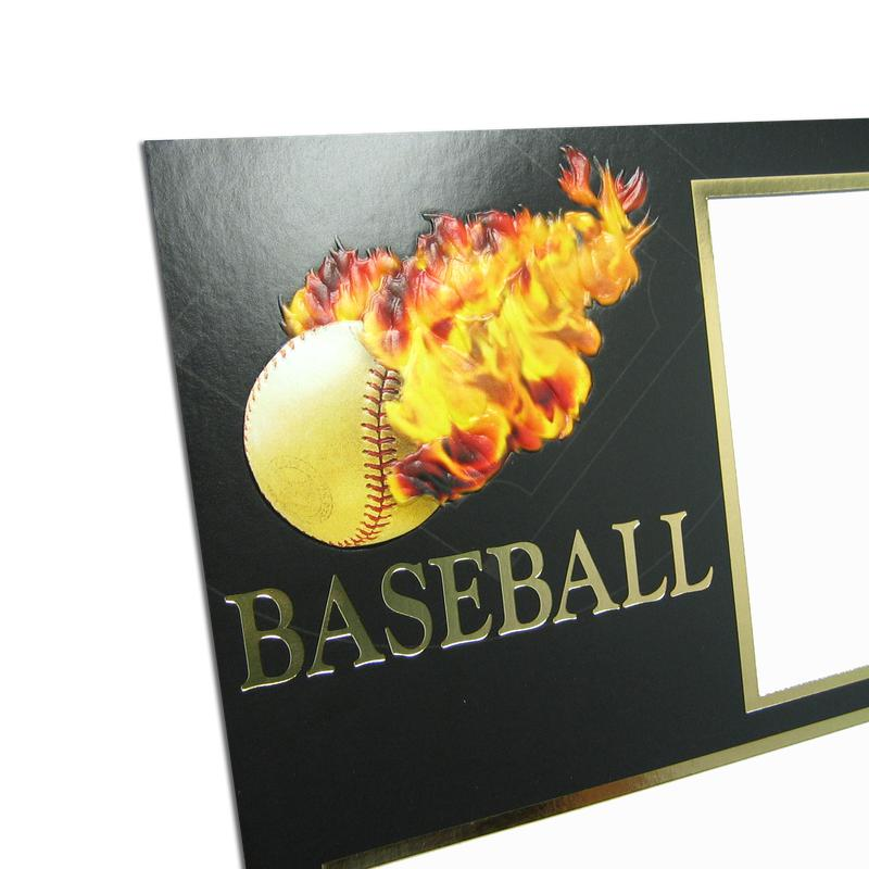 Baseball themed Black/Gold Sports Series Memory Mates