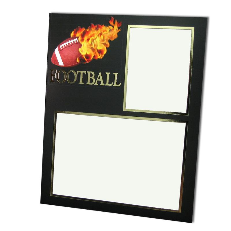 Football themed Black/Gold Sports Series Memory Mates