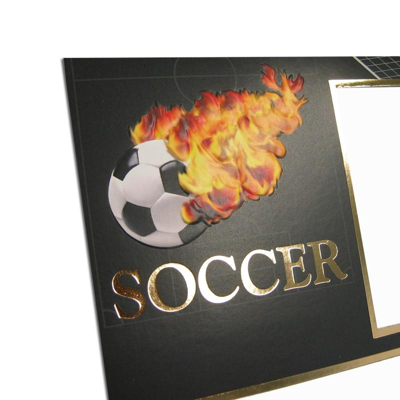 Soccer themed Black/Gold Sports Series Memory Mates