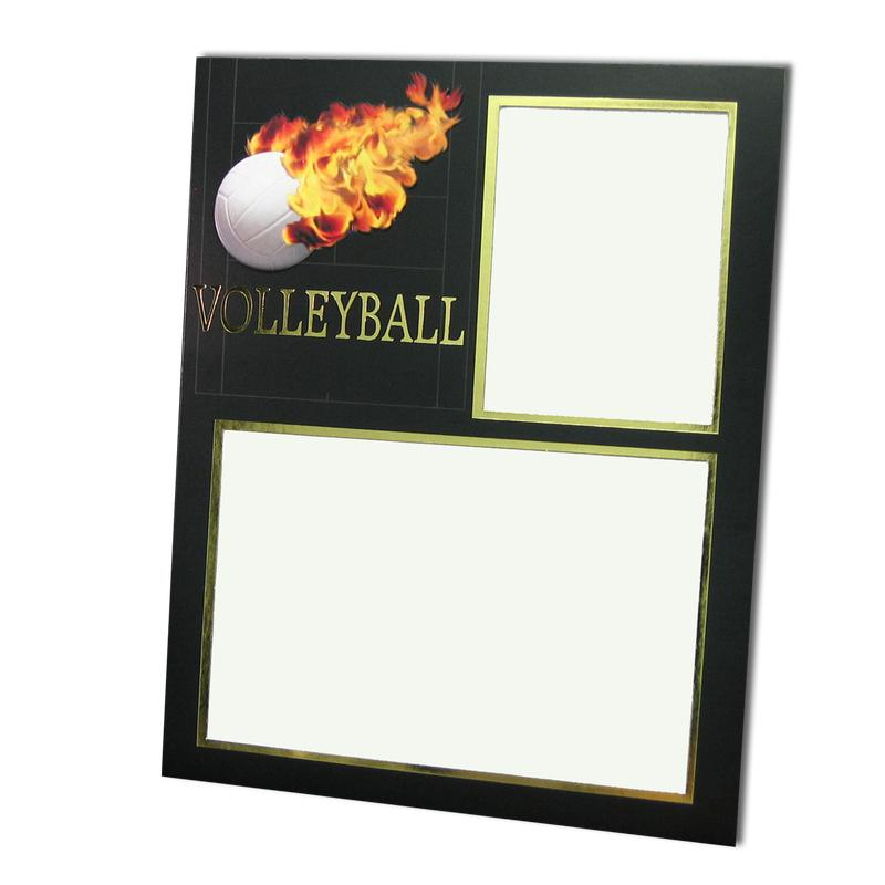 Volleyball themed Black/Gold Sports Series Memory Mates