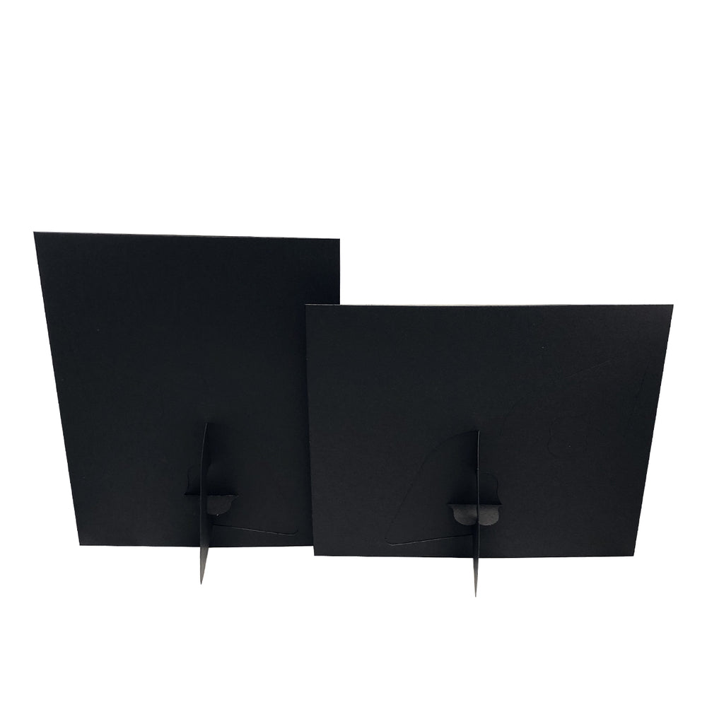 Back of Black Corner Tab Easel frames