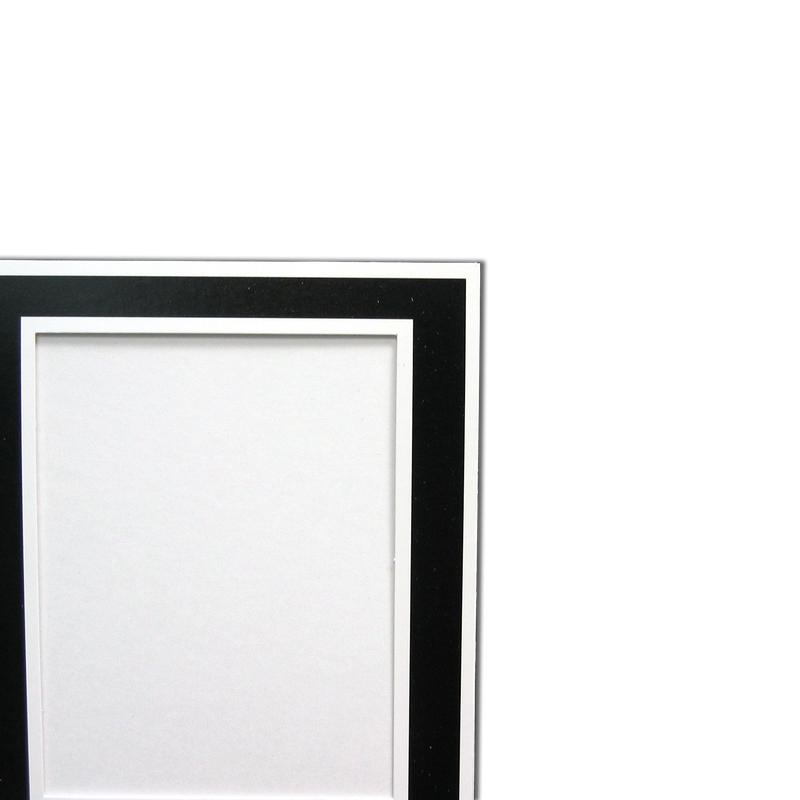 Black/White Memory Mate Easels with white trim