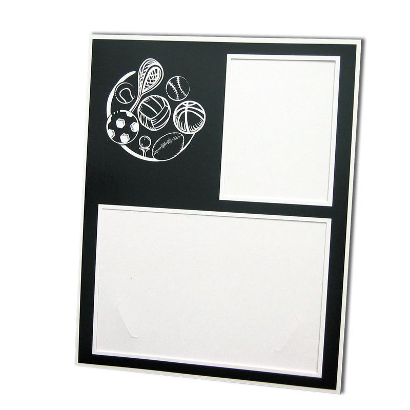 All Sports themed Black/White Memory Mate Easels