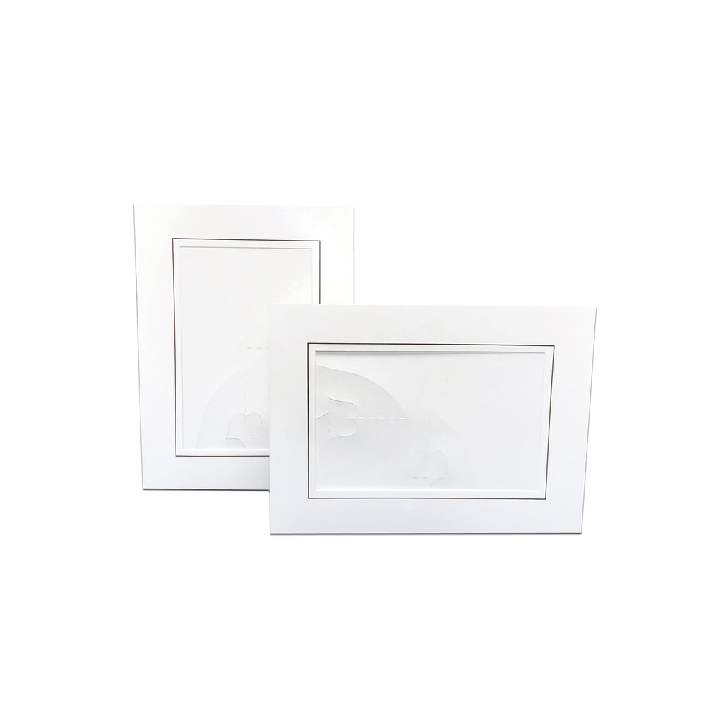 4x6, 5x7 or 8x10 Bottom Loading Easel White frames
