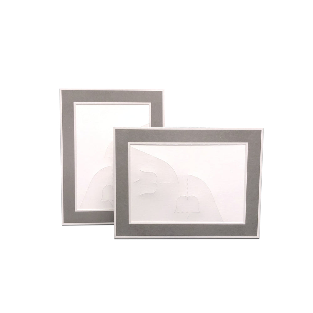 4x6, 5x7 or 8x10 Gray Chicago Easel Series frames
