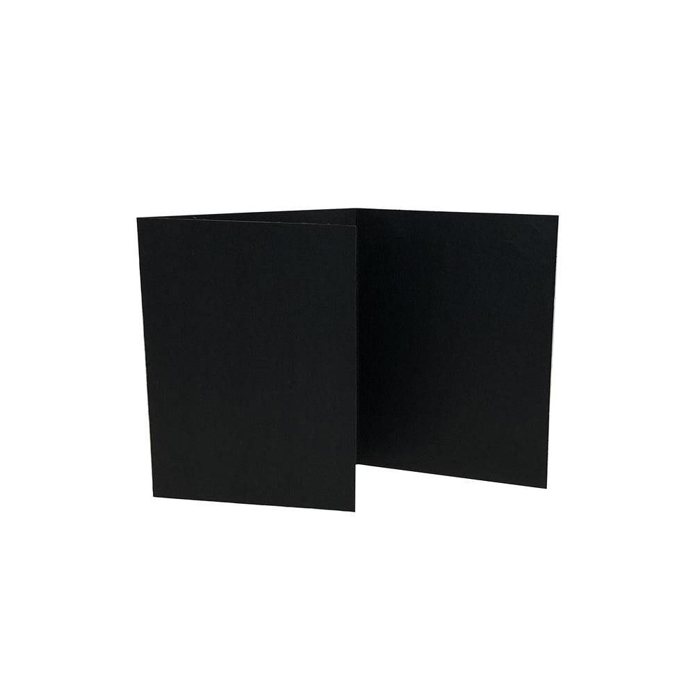 Black Corner Slit Folder frames