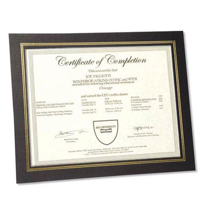 Dual Easel Certificate Frames
