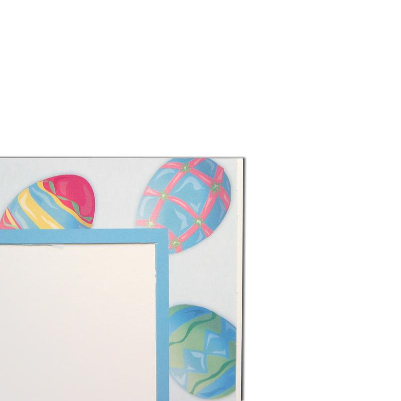 Easter Eggs Folder frames with blue trim