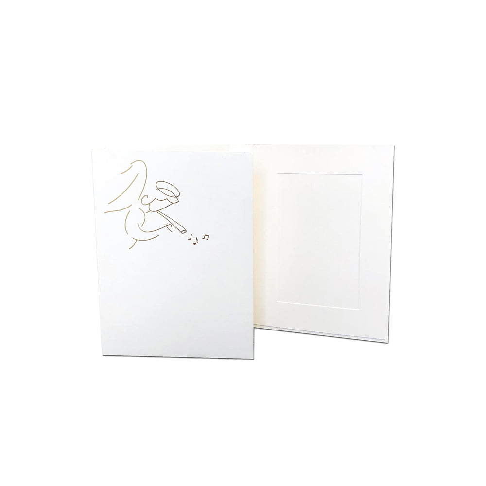 4x6 EconoBright Folders Stamped Series with angel foil stamp