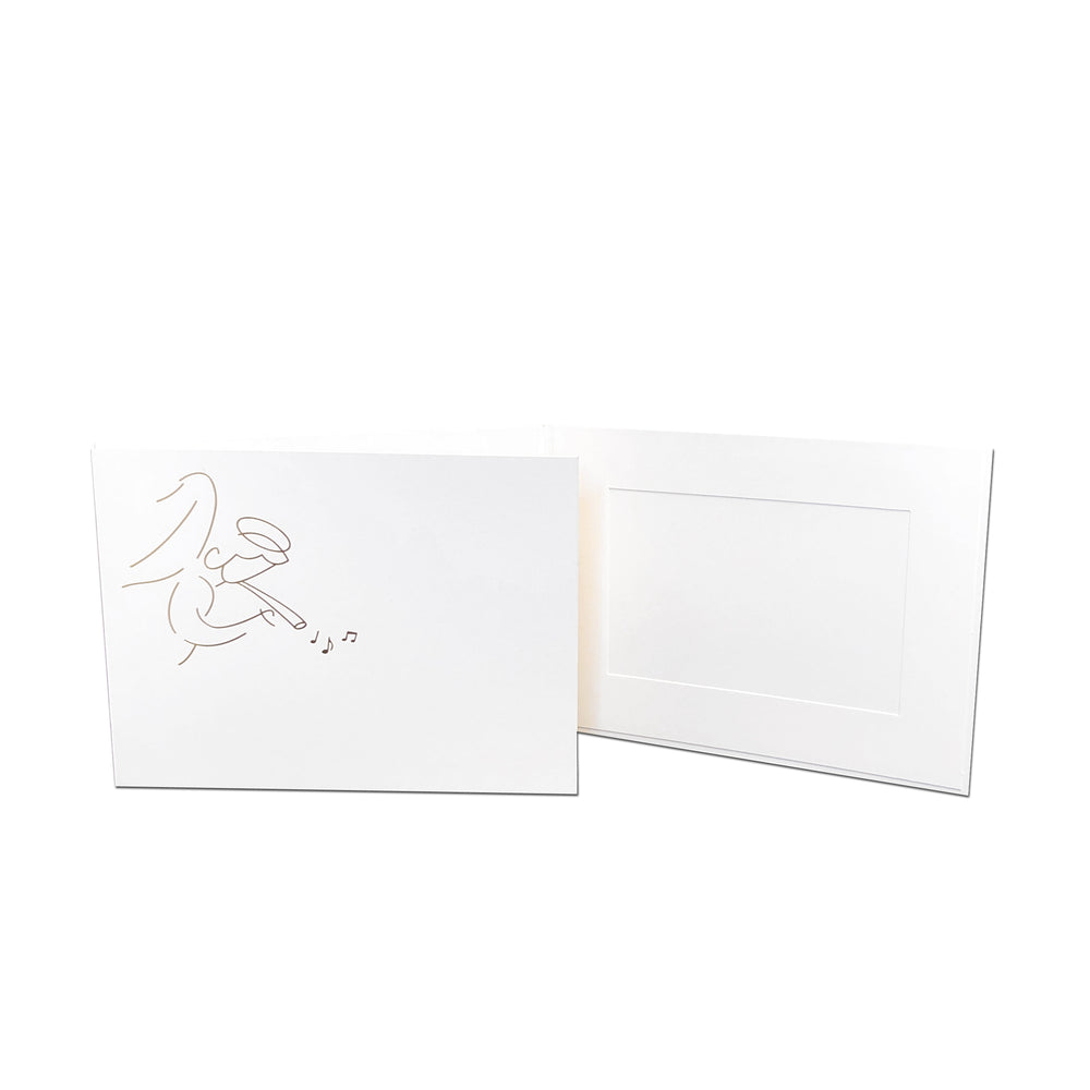 6x4 EconoBright Folders Stamped Series with angel foil stamp