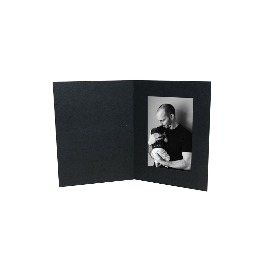 4x6 Black EconoBright Folders Blank frames