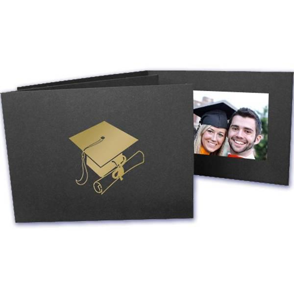 6x4 EconoBright Folders Stamped Series with graduation cap foil stamp