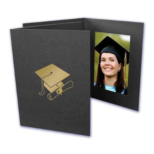 4x6 EconoBright Folders Stamped Series with graduation cap foil stamp