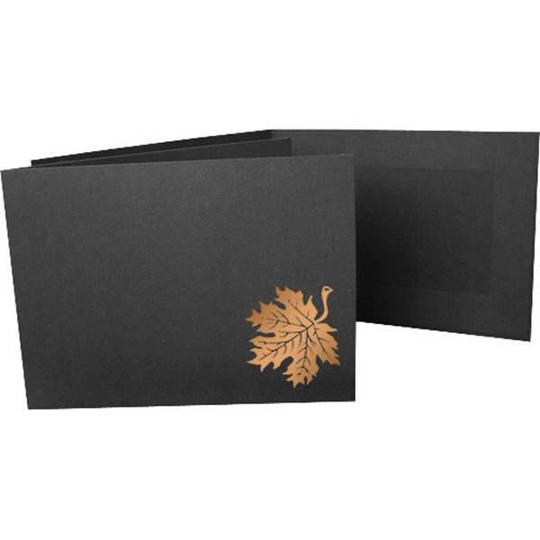 6x4 EconoBright Folders Stamped Series with autumn leaves foil stamp