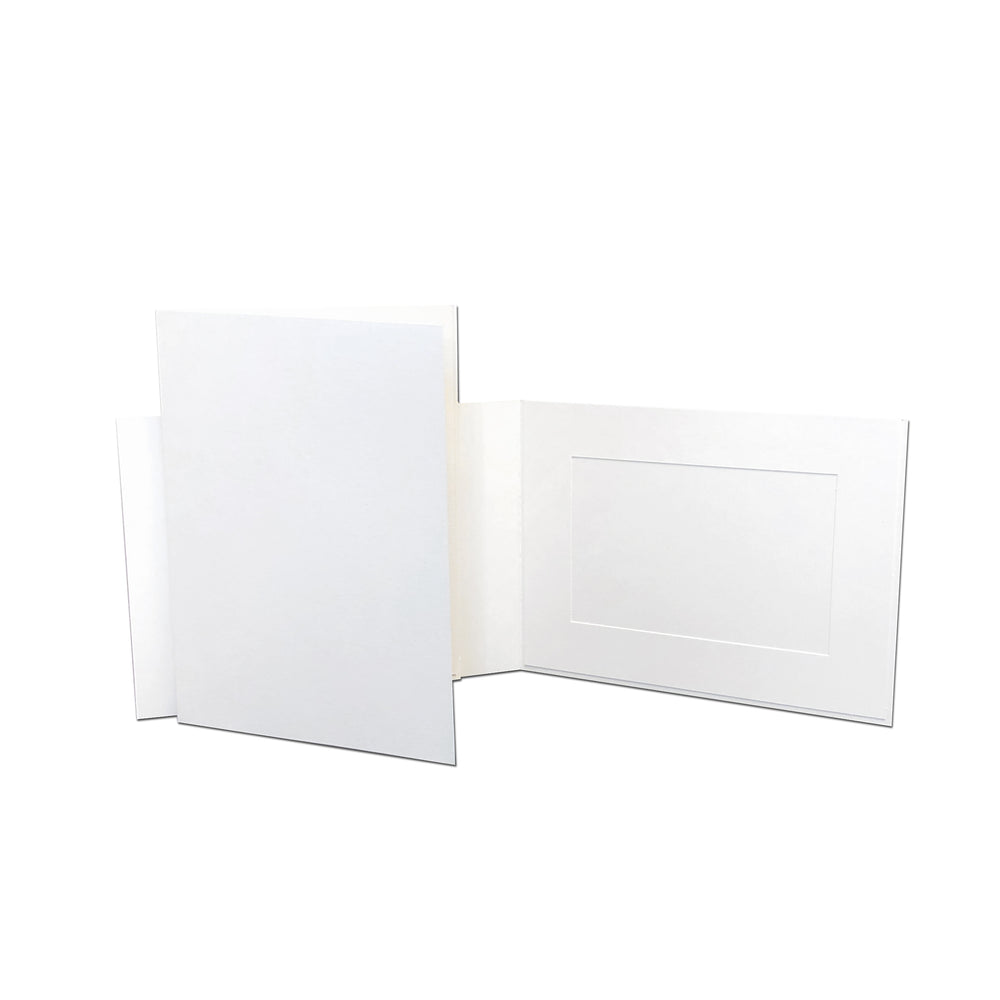 White EconoBright Folders Blank frames