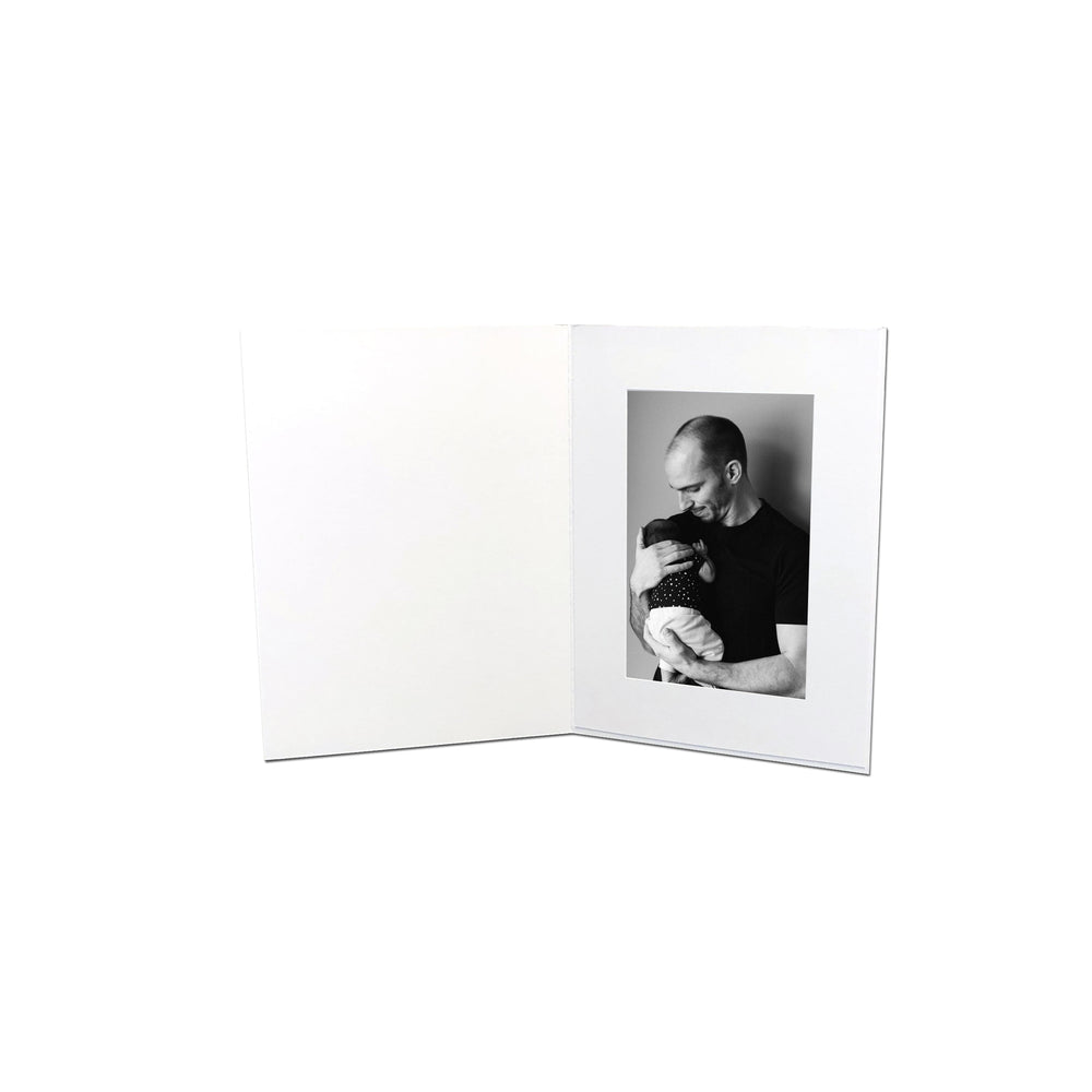 4x6 White EconoBright Folders Blank frames