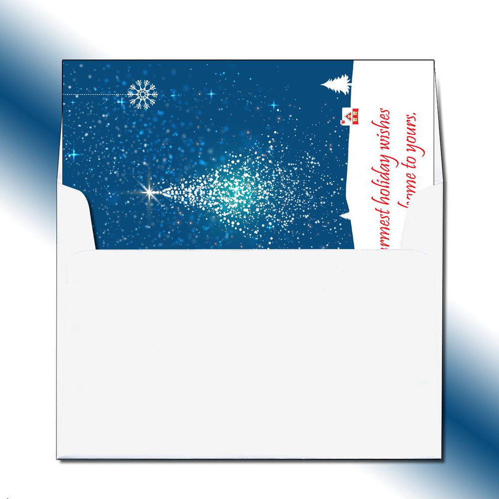 Starry Tree Greeting Card