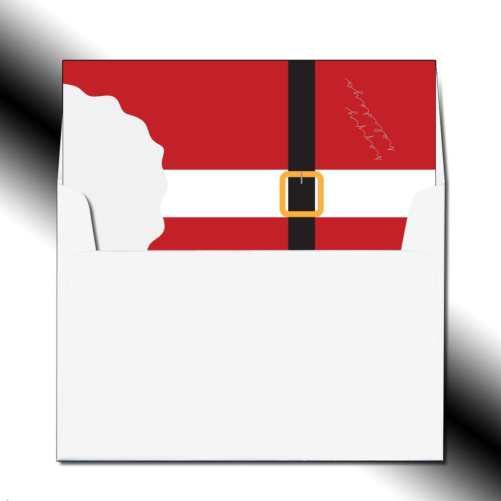 Folded Santa's Buckle Greeting Card