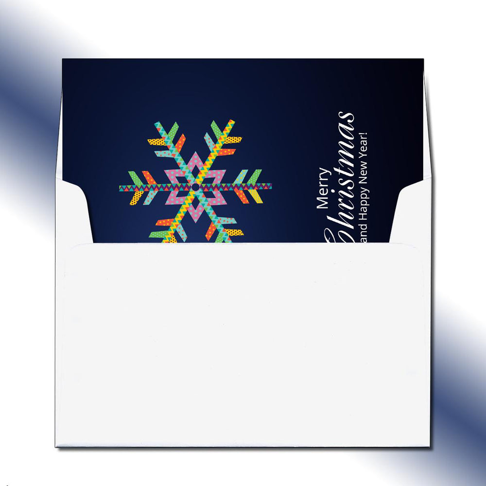 Folded Colorful Snowflake Greeting Card