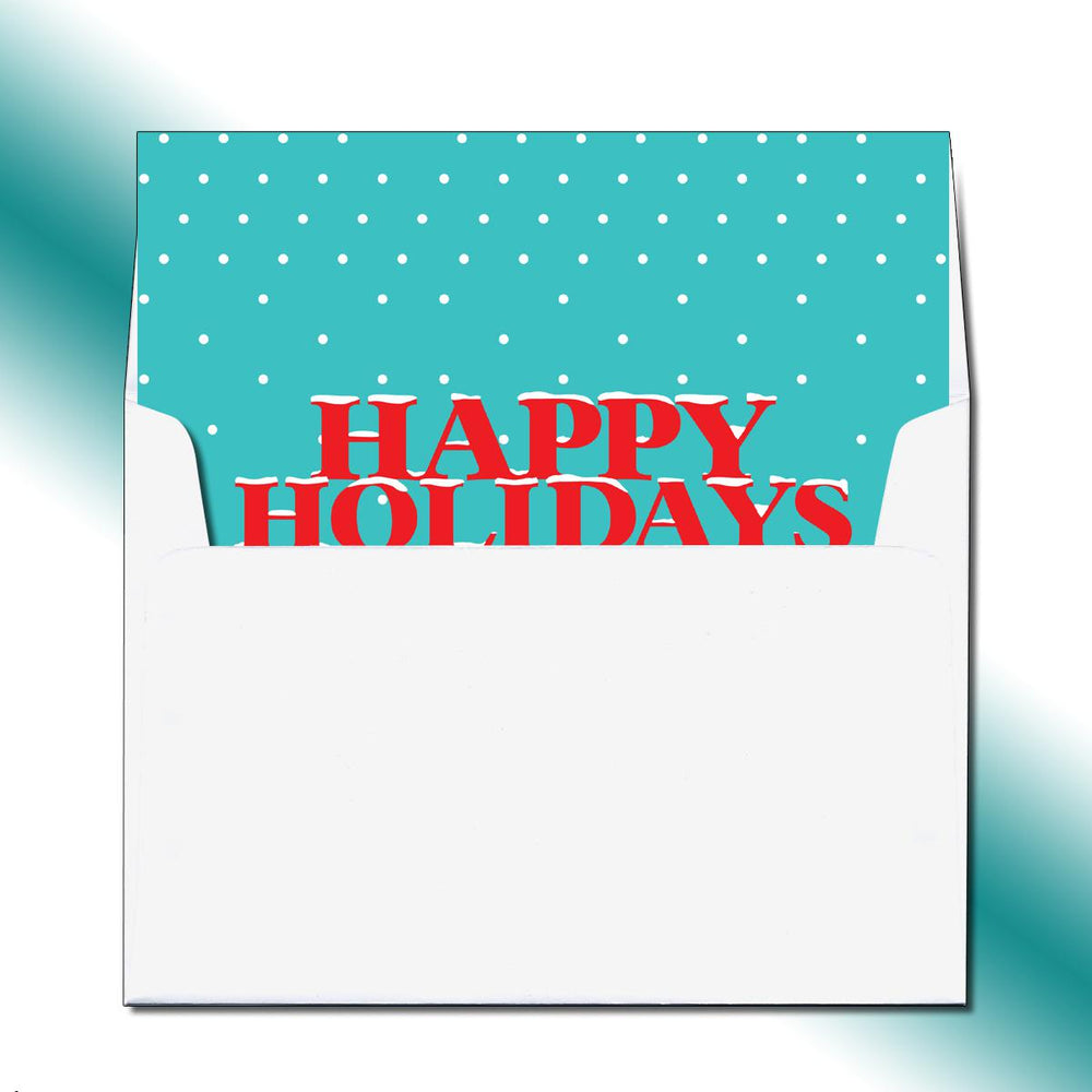 Folded Snowfall Greeting Card