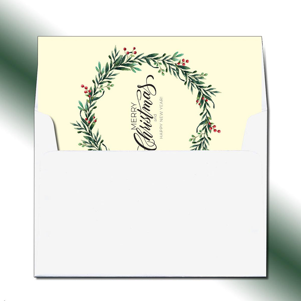 Folded Wreath Greeting Card