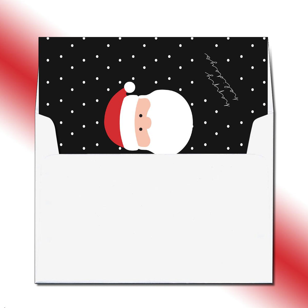 Santa's Face Greeting Card