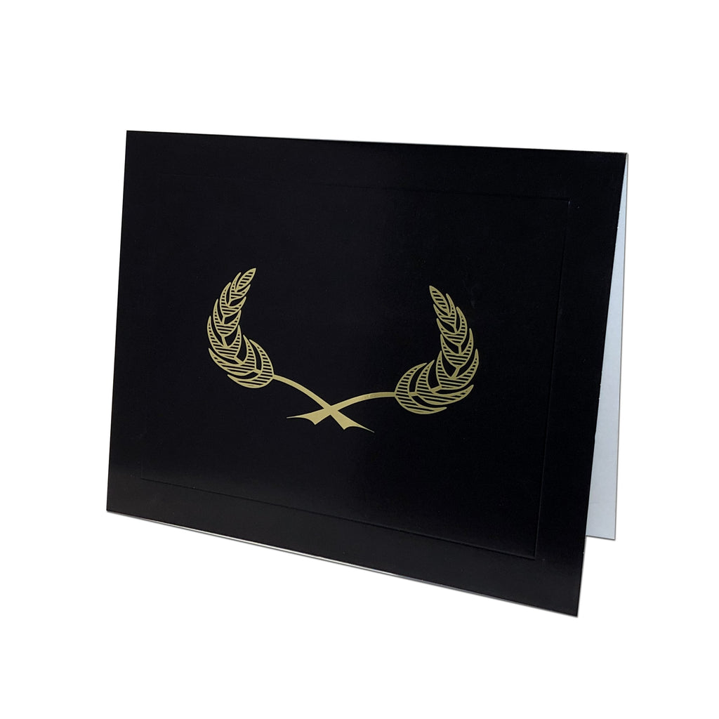 NEW!!! Gilded Crest Certificate Holder - Black