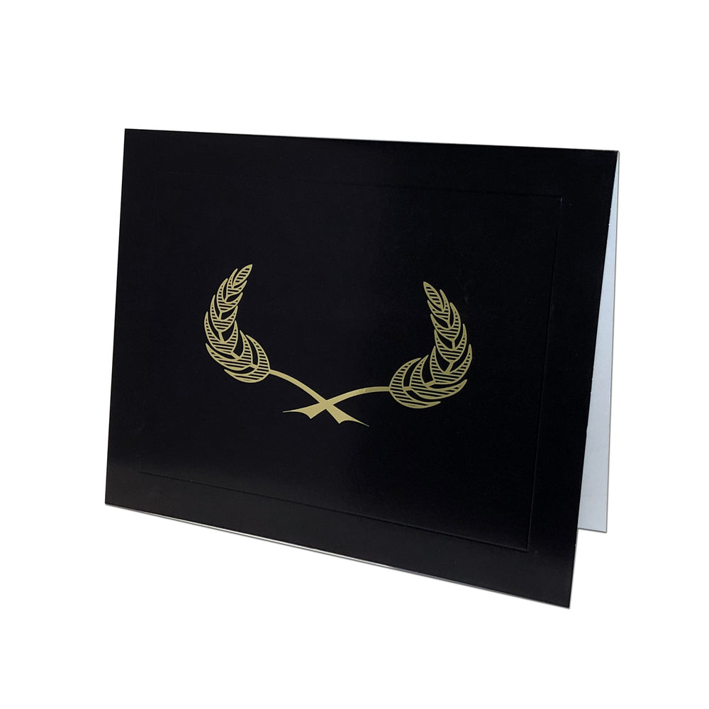 Black Gilded Crest Certificate Holder