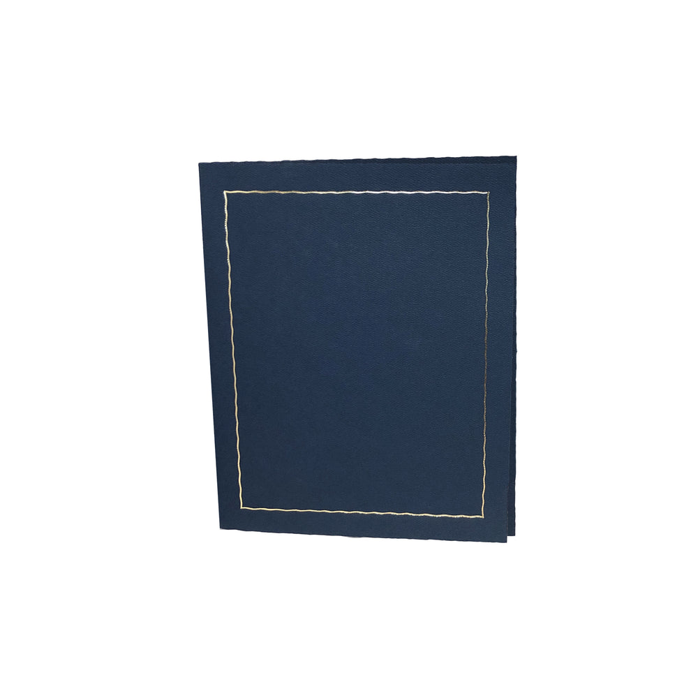 8.5x11 blue Global Certificate Series with gold trim