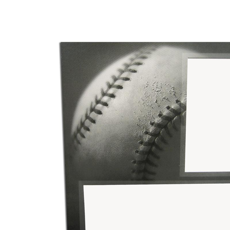 Baseball themed Gray-Scale Sports Series Memory Mate Easels