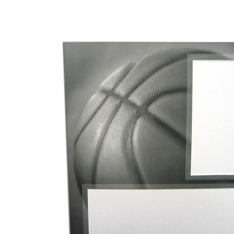 Basketball themed Gray-Scale Sports Series Memory Mate Easels