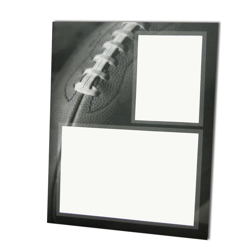 Football themed Gray-Scale Sports Series Memory Mate Easels