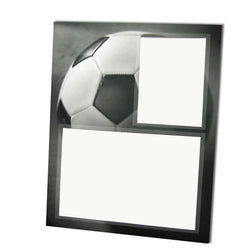 Gray-Scale Sports Series Memory Mate Easels - Soccer