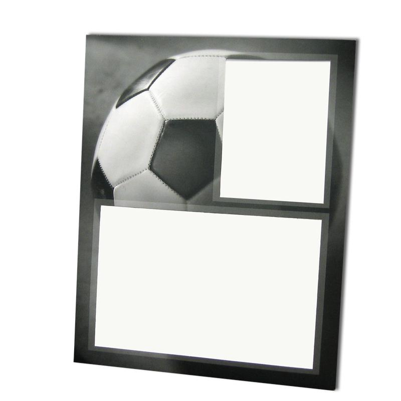 Soccer themed Gray-Scale Sports Series Memory Mate Easels