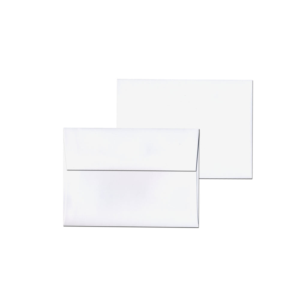 Blank white envelopes for greeting cards