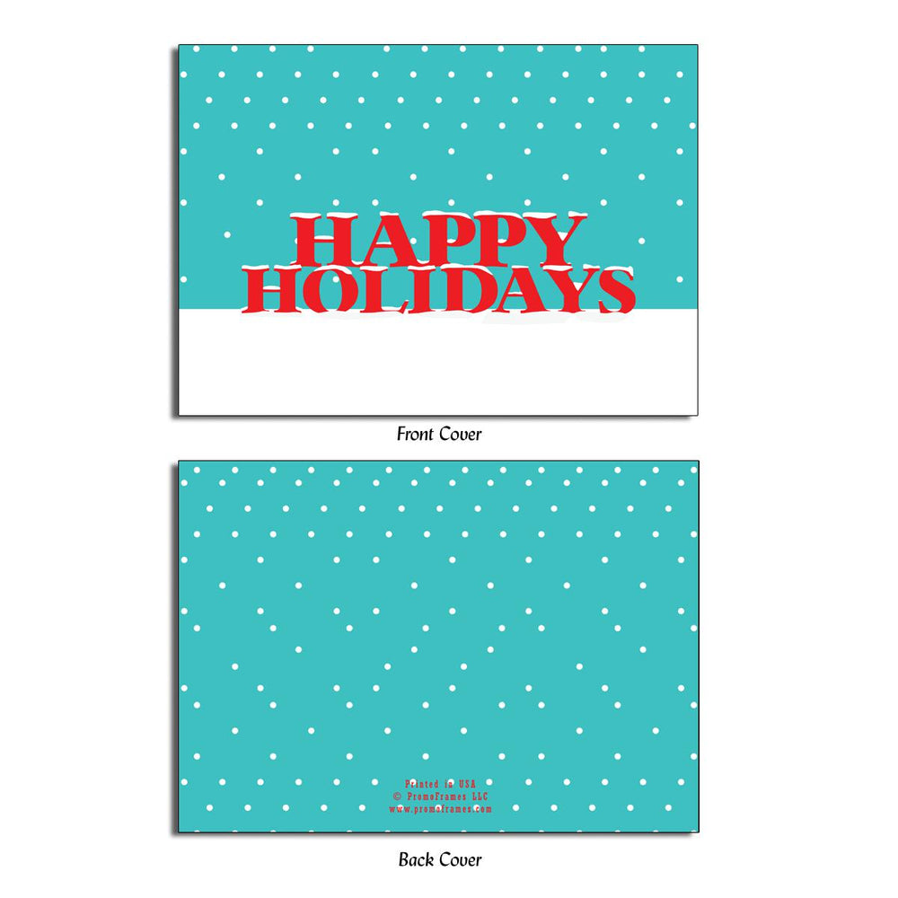 Front and back of Snowfall Greeting Card