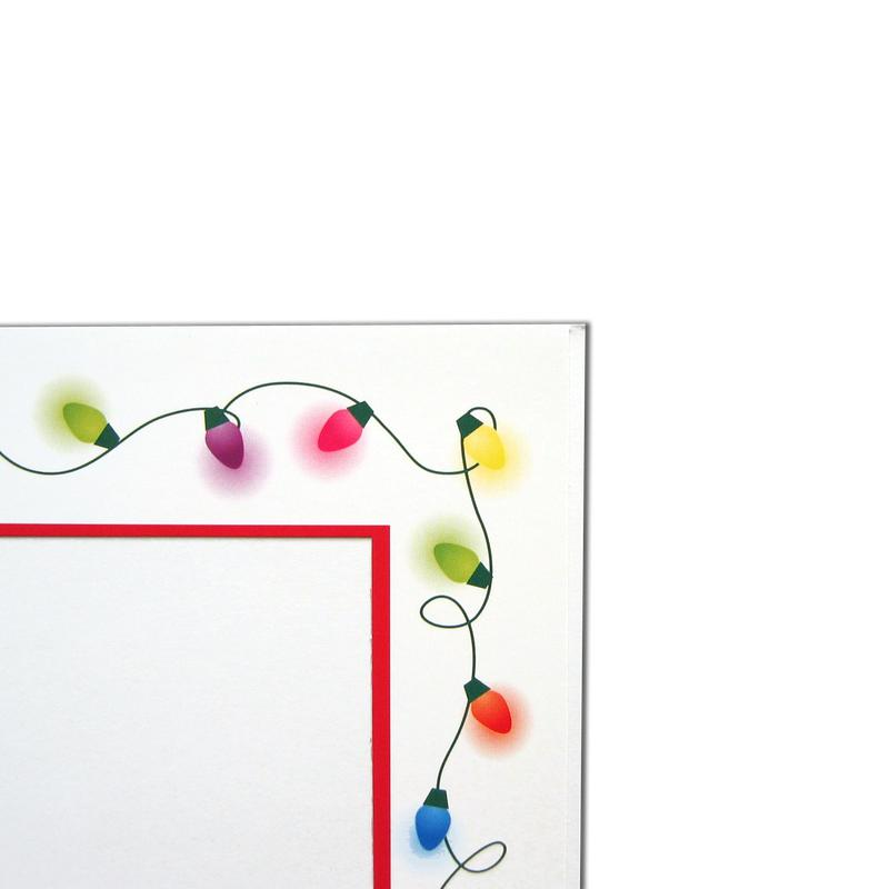 Light Strings Folder frames with red trim