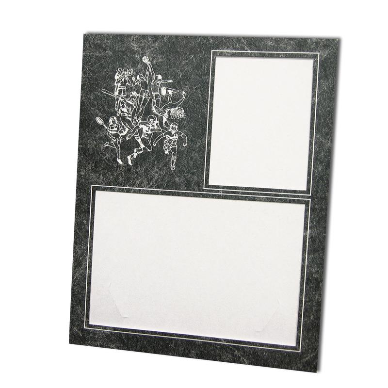 Sports themed Marble/White Memory Mate Easels